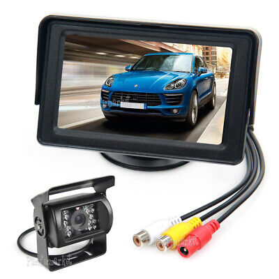 "Car Rear View Kit 4.3"" Lcd Monitor + Ir Night Vision Reversing 18 Led Ccd Camera"