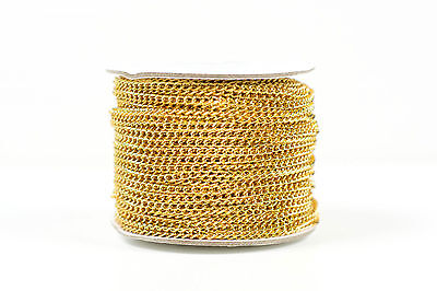 Clearance 3mm Gold Plated Aluminium Chain for Jewellery Making - 50 Metres