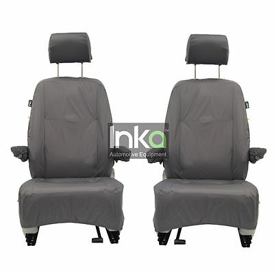 VW Transporter T5 1st Row Inka Fully Tailored Waterproof Seat Cover Grey