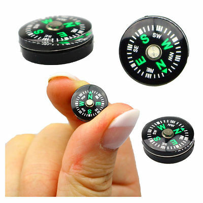 Mini 20mm Oil Filled Military Survival Bushcraft Camping Button Compass ☀️UK☂️