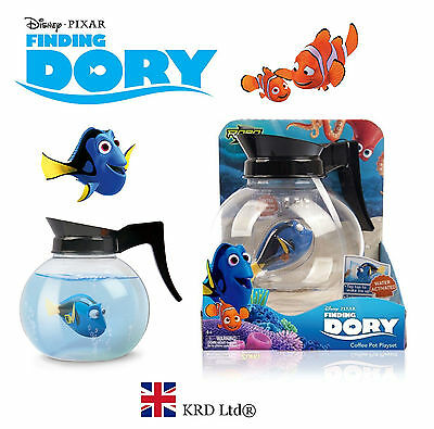FINDING DORY Robo Fish Coffee Pot PLAY SET Water Activated Robotic Pet Nemo Gift