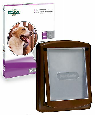 New Staywell Petsafe 775 Large Brown Dog Flap Pet Door with see through flap