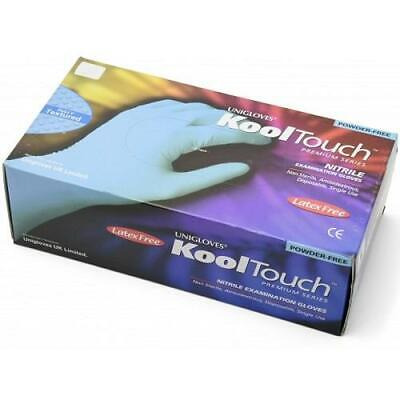 Uniglove Kooltouch Nitrile Blue Powder Free Gloves - Extra Large - Pack Of 100