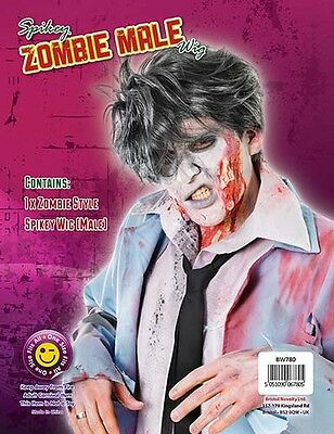 Zombie Short Grey Male Wig Halloween Fancy Dress Party Accessory