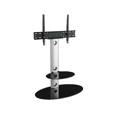 Gloss Silver TV Stand Cantilever With TV Mount Bracket for 32 - 60""