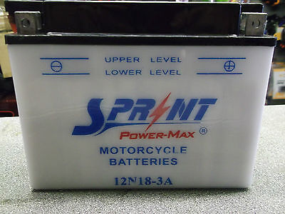 12 volt 18 amp  12N18-3A  DRY CHARGED BATTERY