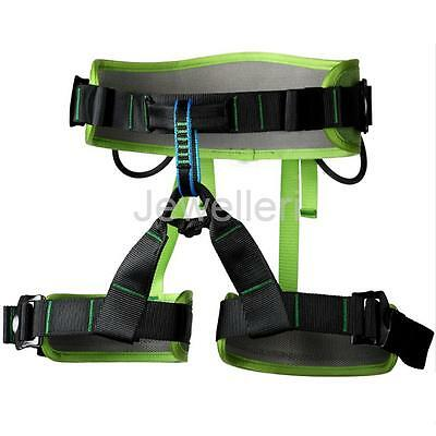 Outdoor Rock Tree Climbing Rappelling Safety Belt Sit Harness Green