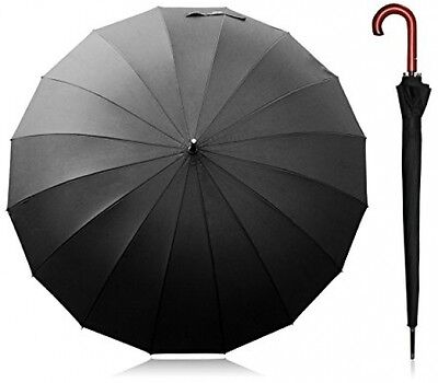 Becko 54 Inches Auto Open Umbrella Long Umbrella With 16 Ribs, Durable And For