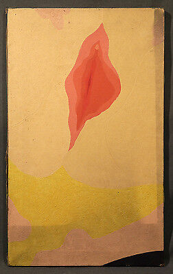Early-Mid 20th Century Abstract Oil Painting of Unique Shapes and Colors