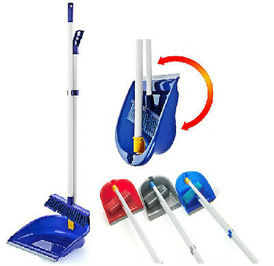 New Folding Plastic Long Handled Dustpan And Brush Dust Pan With Brush Set