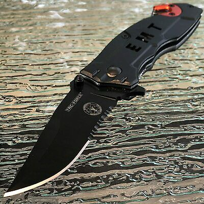 Tac Force Spring Open EMT Emergency EMS Rescue Outdoor Tactical Pocket Knife