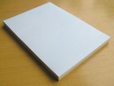 A4 Whole White [MATT] Self Adhesive Sticker Paper Sheet Address Label UK Stock