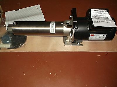 "NEW Multi Stage Booster Pump 1/2 HP 1PH 3/4"" FNPT Inlet/Outlet 5NYA9 (WH/34C)"