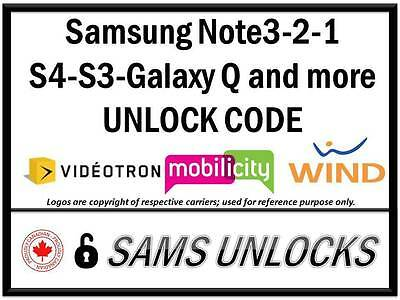Wind Mobilicity Videotron Samsung Galaxy S6 S6 Edge S5 S4 And More Unlock Code