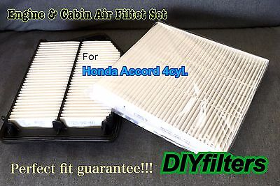 COMBO SET AF6282 C35519 FOR Accord 4CYL Engine & Cabin Air Filter for 2013 -16