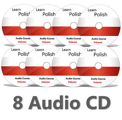 Learn to speak POLISH - Complete Language Training Course on 8 AUDIO CDs no DVD