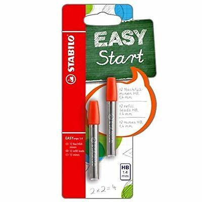 Stabilo EASYergo 1.4mm HB Pencil Leads Refills - Twin Pack - 12 Leads