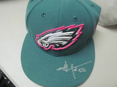 Jordan Hicks Philadelphia Eagles Signed Hat COA