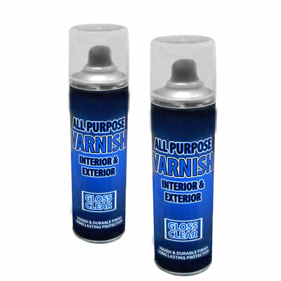 1x clear gloss spray varnish interior& exterior all purpose 250ml for chair