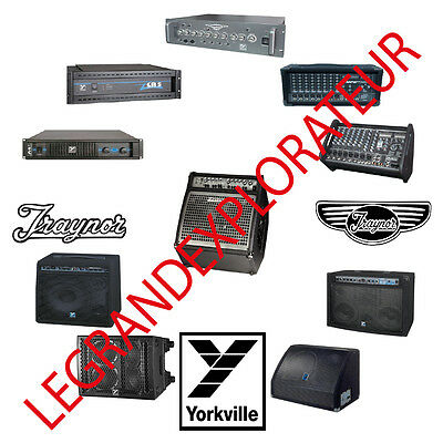 Ultimate Yorkville Traynor Audio Repair Service Schematics Manuals manual on DVD