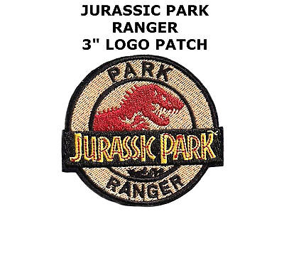 Jurassic Park Movie Park Ranger Logo Embroidered Patch, NEW UNUSED