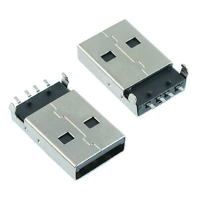 2 x USB Type A Vertical Male Plug PCB Connector