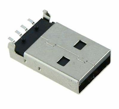 USB Type A Vertical Male Plug PCB Connector