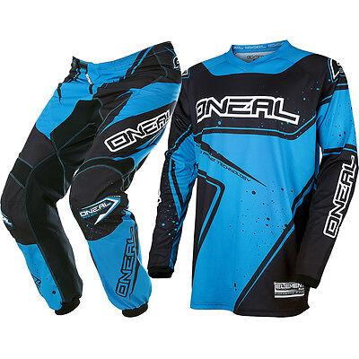 Oneal 2017 NEW Mx Youth Element Jersey Pants Black Blue Kids Motocross Gear Set