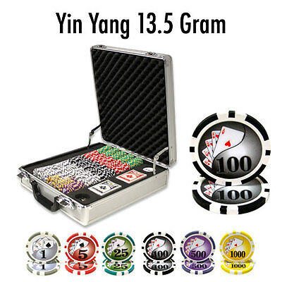 NEW 500 PC Yin Yang 13.5 Gram Clay Poker Chips Set Claysmith Case Select Chips