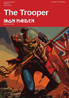 Iron Maiden Poster - The Trooper - Heavy Metal - Eddie - Jack of All Posters