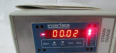 Interface 9820 Strain Gage Indicator with Interface WMC-100 lbf load cell.