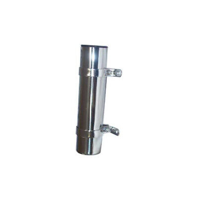 New 2 x Stainless Steel Fishing Rod Holders Side Mount With Brackets Polished
