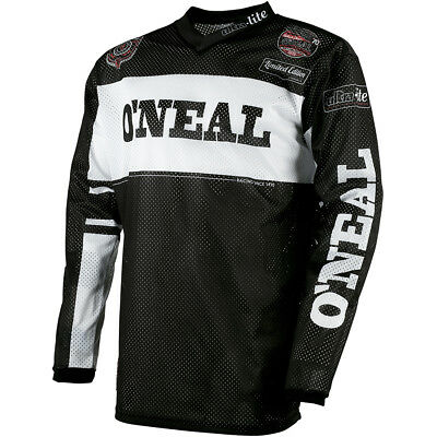 Oneal 2018 NEW Mx Gear Ultra Lite 75 Vented Black White Motocross Jersey