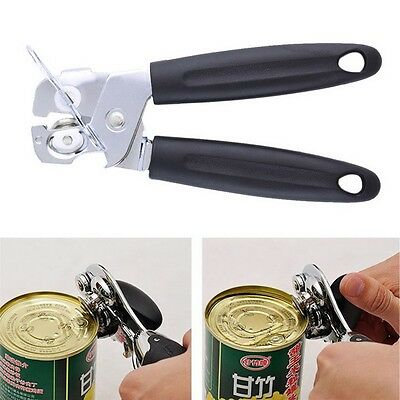 Practical Stainless Steel Can Tin Jar Opener Manual Kitchen Restaurant Tool HR