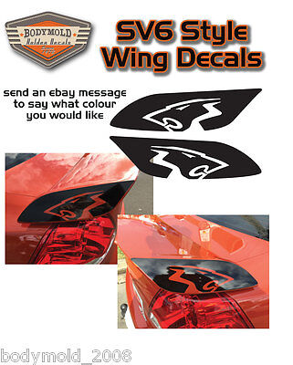 SV6 Wing Decals. Holden Lion style