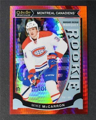 2015-16 O-Pee-Chee Platinum Marquee Rookies Red Prism #M39 Mike McCarron /149