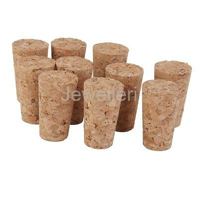 10pcs New Wine Bottle Tapered Corks Stoppers Bungs Size 21.5mm x14mm x 22mm