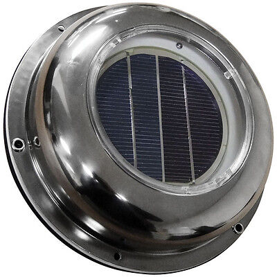 NEW Solar Exhaust Fan Attic Roof Vent Stainless Steel Cover