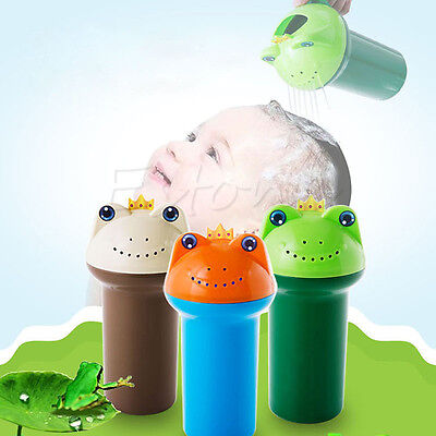 Kids Cartoon Frog Bathing Baby Shower Shampoo Cup Bailer Baby Shower Water Spoon