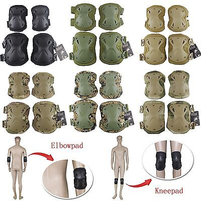 Airsoft Tactical Army Paintball Skate Elbow Knee Pads Protective Gear Guard Pad