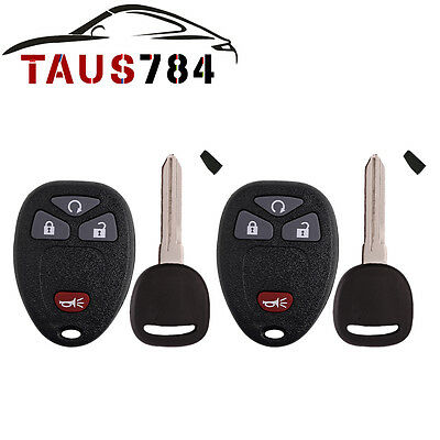 2 New Replacement Transponder Ignition Key Fob Chipped Uncut Blade for OUC60270