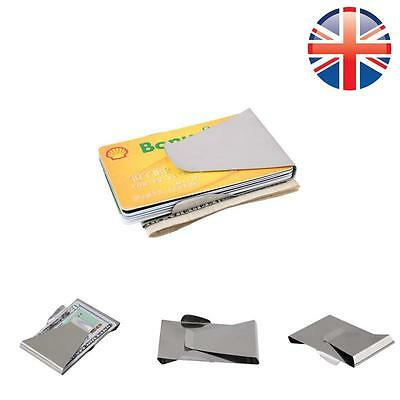 *UK Seller* Double Sided Slim Stainless Steel Money Cash Note Credit Card Clip