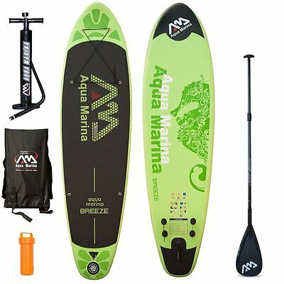 BREEZE Stand Up Paddle Board 300/10cm aufblasbar inkl. Teleskop-Paddel SUP ISUP