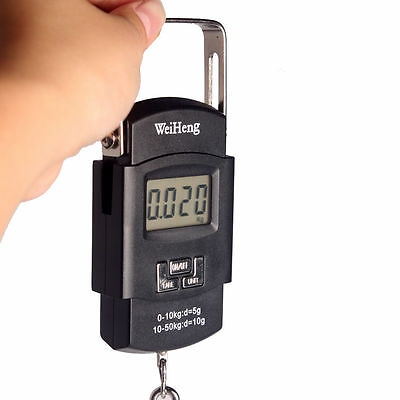 50kg/10g LCD Electronic Hanging Digital Luggage Scale Portable Fish Hook Scale