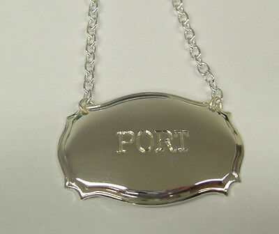 Silver Plate Decanter Label Personal Engraving Chippedale Style