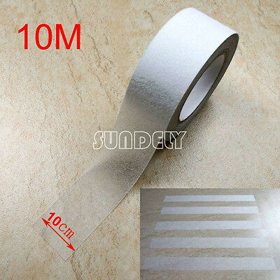 """4"""" Clear Anti Slip Tape Grip Adhesive Sticky Backed Non Slip Safety Flooring 10M"""