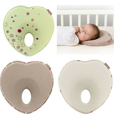 Newborn Baby Infant Memory Foam Pillow Anti Roll Prevent Flat Head Support Neck