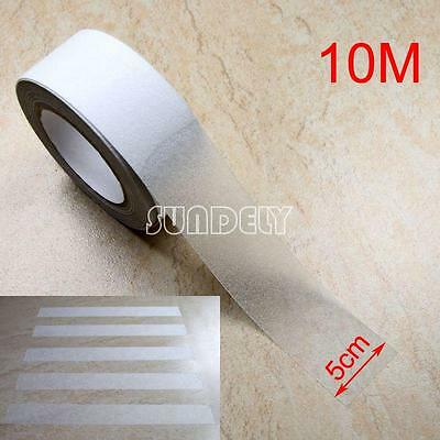 """2"""" Clear Anti Slip Tape Grip Adhesive Sticky Backed Non Slip Safety Flooring 10M"""