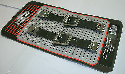 Pair of Leather Bonnet / Boot Straps with Buckle, Classic, Race, Rally