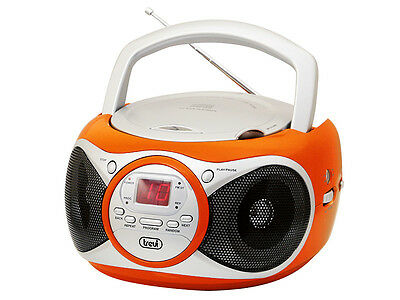 Trevi Portable Stereo Boombox with CD Player FM Radio & AUX-IN for MP3 Orange